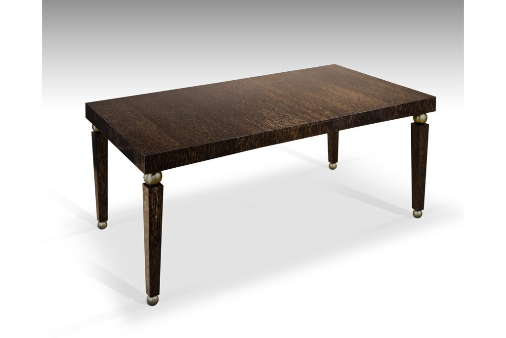 African Table in Palmwood & Patinated Bronze