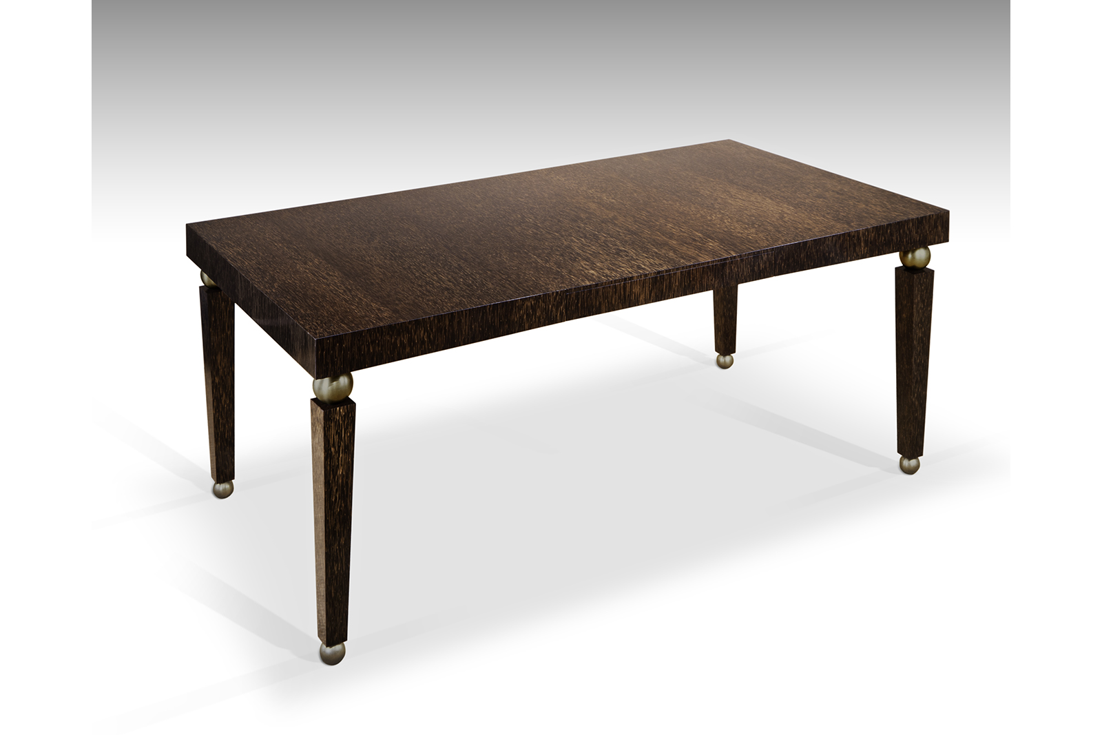 Table In Palmwood U0026 Patinated Bronze