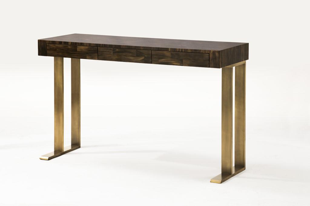 Seyssel Writing Desk in Horn & Bronze